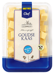 Metro Chef Goudse kaas Belegen 48+ blokjes 300 gram