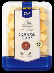 Metro Chef Goudse kaas oud 48+ blokjes 300 gram