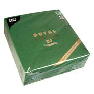 Papstar servetten Royal collection 40 cm donkergroen 50 stuks