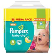 Pampers Baby-dry extra large maat 6 15+ kg 68 stuks
