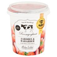Den Eelder Roomyoghurt aardbei & rabarber 400 gram