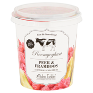 Den Eelder Roomyoghurt peer & framboos 400 gram