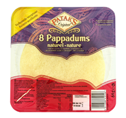 Patak's Pappadums naturel 8 stuks 64 gram