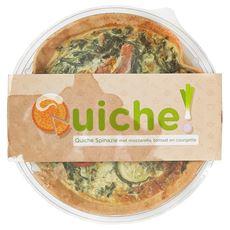 Quiche Spinazie mozzarella tomaat courgette 350 gram