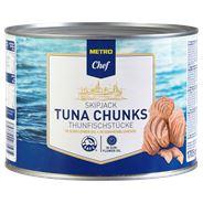 Metro Chef Skipjack tonijnstukken in Zonnebloemolie 1,7 kg