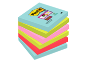 Post-it Super sticky notes Miami 76 x 76 mm 6 blokken