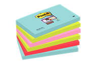 Post-it Super sticky notes Miami 76 x 127 mm 6 blokken