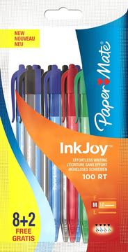 Papermate Inkjoy Balpen 100 RT 8 + 2 stuks