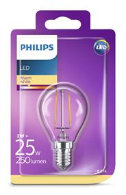 Philips LEDClassic kogellamp 25W E14