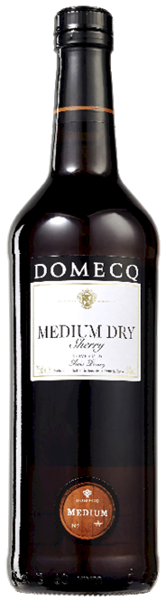 Domecq sherry medium dry 0.75l