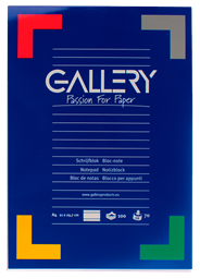Gallery Schrijfblok A4 gelinieerd 100 vel