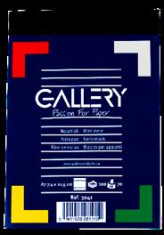 Gallery Notitieblok A7 gelinieerd 100 vel