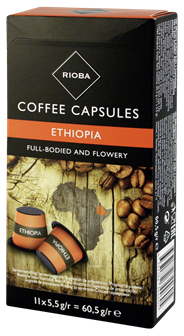 Rioba Sidamo Ethiopische koffie capsules 11 stuks