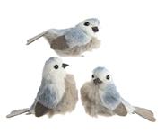 Kaemingk Vogel op clip blauw assorti