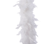 Decoris Guirlande veren boa 184 cm wit