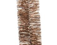 Decoris Guirlande lametta glans 2,7 meter bruin