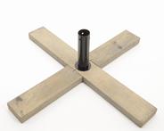 Decoris Kunstboomstandaard hout kruis