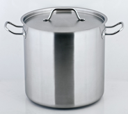 Metro Professional Kookpan hoog RVS 24 cm 10 liter
