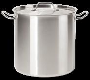 Metro Professional Kookpan hoog RVS 28 cm 17 liter