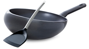 BK Easy Inductie Wokarang 32 cm + Chinese wokspatel