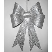 Peha Kersthanger 30 cm zilver glitter