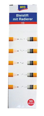 Aro HB-potloden met gum 50 stuks