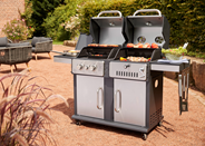 Tarrington House Vulcano Gas- en Houtskoolbarbecue 3-in-1