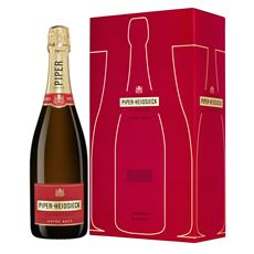 Piper-Heidsieck Champagne Brut 750 ml + 2 glazen