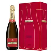 Piper-Heidsieck Champagne Brut 3 x 750 ml + 3 x 2 glazen