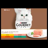 Purina Gourmet Gold Mousse 12-pack o.a. met Kip 12 x 85 g