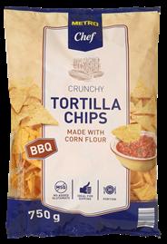 Metro Chef Tortilla chips BBQ 750 gram