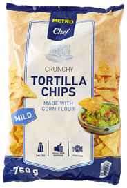 Metro Chef Tortilla chips mild 750 gram
