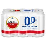 Amstel 0.0 Alcoholvrij Bier Blik 6 x 33 cl
