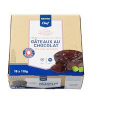 Metro Chef Gesmolten chocoladetaart (Lava cake) 18 stuks