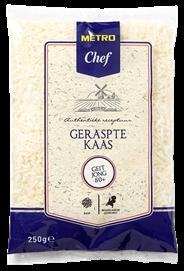 Metro Chef Geraspte geitenkaas jong 50+ 250 gram