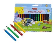 Bruynzeel Woezel & Pip Korte dikke kleurpotloden 16 stuks