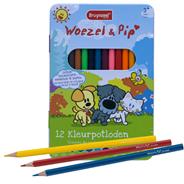 Bruynzeel Woezel & Pip Kleurpotloden in blik 12 stuks