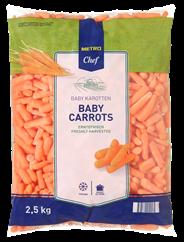 Metro Chef Babywortelen 2,5 kg