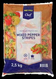Metro Chef Paprika Reepjes mix 2,5 kg