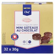 Metro Chef Mini Chocolade taartjes 32 x 30 gram