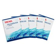 Sigma Collegeblok A4 lijntjespapier (80 vellen) 5 stuks