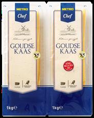 Metro Chef Goudse kaas Jong belegen 48+ 100 plakken 2 kg