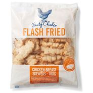 Tasty Chicken Gefrituurde kipfilet spiesen diepvries 2,5 kg