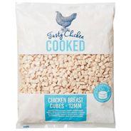 Tasty Chicken Gekookte kipfilet blokjes diepvries 2,5 kg