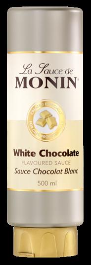 Monin Topping Witte chocolade 500 ml