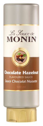 Monin Topping Chocolade hazelnoot 500 ml