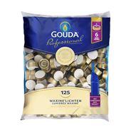 Gouda Professional Waxinelichten 6 uur 125 stuks + aansteker