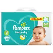 Pampers Baby-Dry Maat 3, 100 Luiers, Voor Droge Ademende Huid