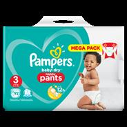 Pampers Baby-Dry Pants S3, 92 luierbroekjes