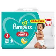 Pampers Baby-Dry Pants S3, 92 Luierbroekjes, Luchtdoorlatende Banen